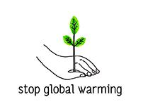 Stop Global Warming - Promocard