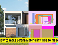 How to make Corona Material invisible to masks
