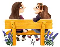 Park benches talk