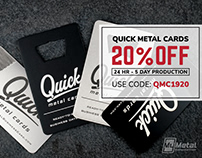 Quick Metal Business Cards 20% OFF - Ready in 5 Days