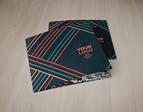 Square Colorful Lines Trifold