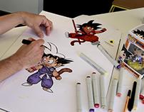 Let's draw Goku