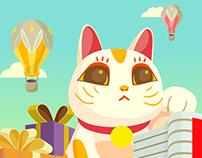 Gohappy9週年慶-插畫主視覺設計