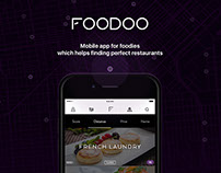 Foodoo is iOS app with AI to find a perfect restaurant