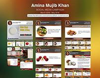 Amina Mujib Khan - Social Media Campaign