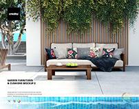 Garden Furnitures & Cushions Mockup 2