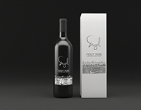 Wine bottle packaging design