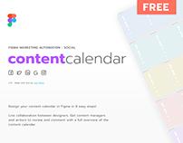FREE Figma Marketing Social Content Calendar