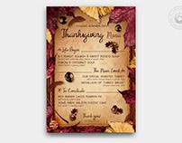 Thanksgiving Menu Template V3