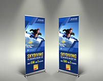 Skydiving Signage Roll Up Banner Template