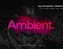 Ambient Sans Typeface FREE FONT