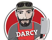 Darcy the friendly butcher. Ohakune. New Zealand