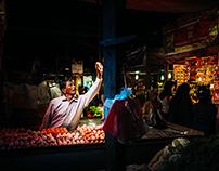 Pasar Bawah and Pasar Atas at Bukittingi - West Sumatra