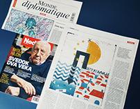 Illustration For Le Monde Diplomatique Magazine