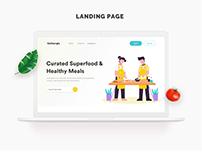 Food landing page design