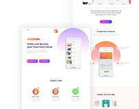 Foodo - App Landing Page