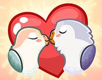 Stickers «Lovebird»