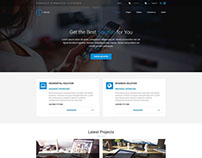 Internet WordPress theme Example for internet provider