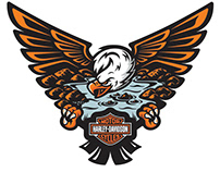 Glacial Lakes Harley-Davidson Logo