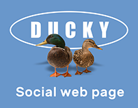 Ducky. Social web page. Free PSD