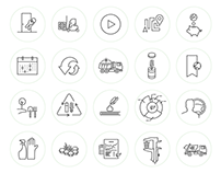 110 eco icons for PEK Ecology Services website