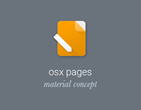 OSX Pages Material Concept