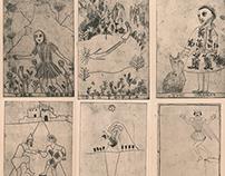Tarot style etching series