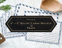 4x6 Recipe Cards Mockup