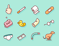 Daily Routine Icon Set