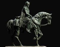 Statue of Isildur in Minas Tirith