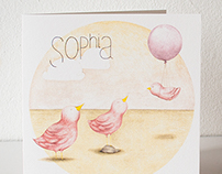 Birth card Sophia