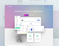 Landing Page Design Concept for Assembly.