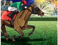 Godolphin Racecourse Illustration