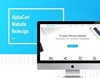 AlphaCert website redesign