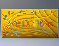 "3D Printed Welcome sign door decoration ""Owl tree"""