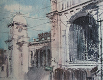 Watercolor/Vitebsky railway station