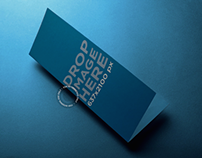 Mockup of a Brochure Lying on Top of a Smooth Surface