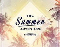 Summer Adventure - PSD Flyer Template