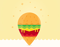 Location Burger App Design