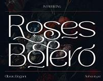 ROSES BOLERO - FREE ELEGANT SANS SERIF FONT