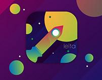 Leita Browser app icon design