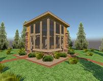 3D Villa view