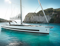Beneteau Yachts // full CGI rendering of the