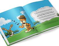 """Childish book Illustration """"Tío Tigre y Tío Conejo"""