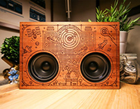 Outer Space Boombox for Jake Mize (thewoodenboombox.com