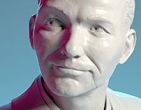 Frank Sinatra - Digital sculpting for 3d printing