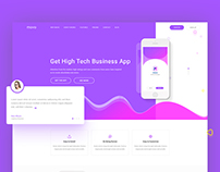 Landing page movo app template
