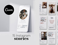 15 Instagram stories Canva template