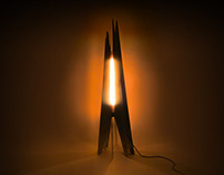 Scorch – A campfire-inspired lamp.