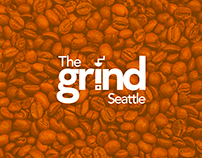 The Grind Coffee Shop Logo